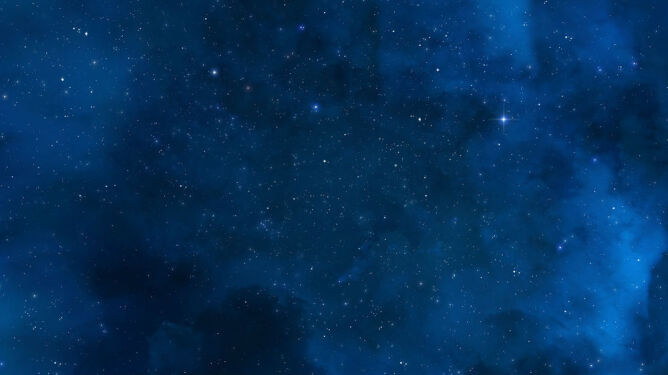 Niebiesko-czerwona koniunkcja na niebie