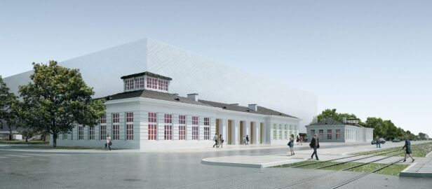 Widok na narożnik Grochowska/Terespolska Atelier Thomas Pucher