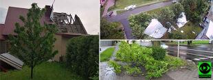 Uszkodzone dachy, połamane drzewa. Zniszczenia po czwartkowych nawałnicach