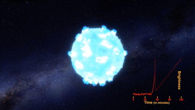 Udało się zarejestrować falę uderzeniową podczas wybuchu gwiazdy