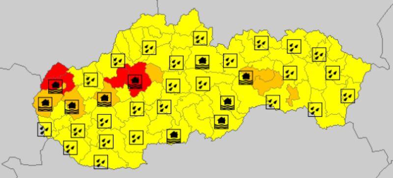 Ostrzeżenia meteorologiczne na Słowacji (meteoalarm.eu)