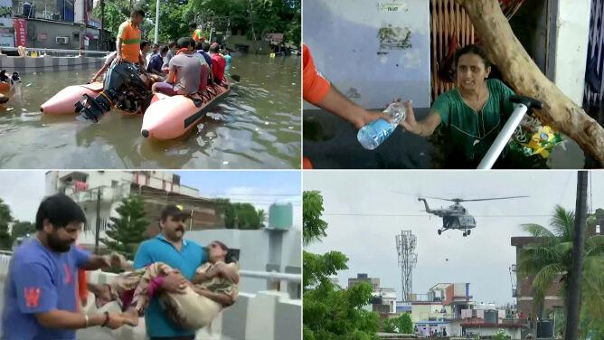 Monsun w Indiach. Ponad 1600 osób nie żyje