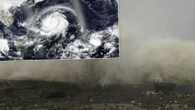 Supertajfun Surigae przybrał na sile. Porywy wiatru przekraczają 300 kilometrów na godzinę