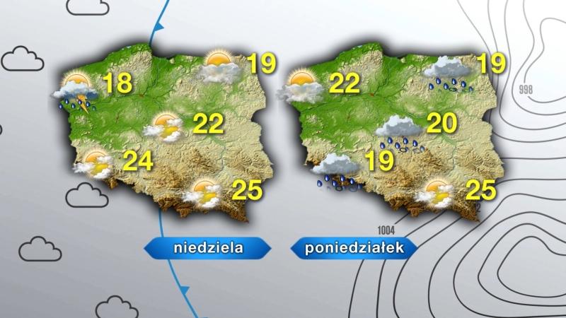 Pogoda na niedzielę i poniedziałek