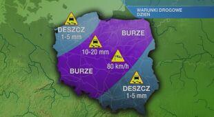 Warunki drogowe w niedzielę 23.05