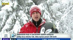 Jędrzej Dobrowolski opowiada o rekordzie (TVN24)