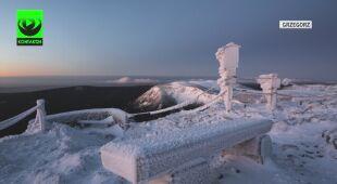 Mroźny poranek na Śnieżce